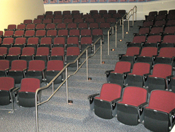 Seats of the lecture theater of Civic Hall