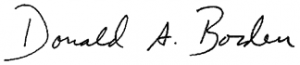 Donald A. Borden signature