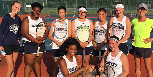 CCC Tennis Team in Color